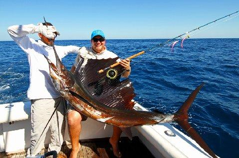 John Snipes First Sailfish on Fly January 2014 The Sailfish School Guatemala Vessel Intensity