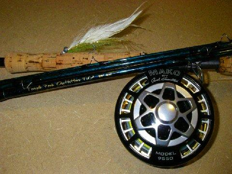 TFO Bluewater LD Fly Rod, Mako #9500 Fly Reek, Rio 400 Grain Fly Line, 20# class tippet, fo rAmberjack on Fly, Cape Lookout area, North Carolina