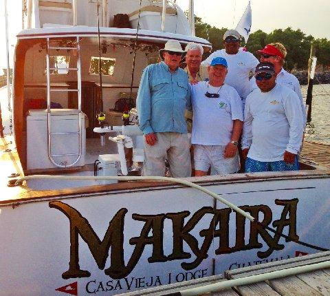 Team Makaira after releasing 250 pound Blue marlin on fly Makaira March 15 2014 The Sailfish School