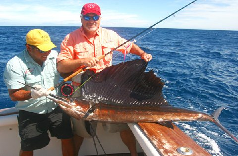 Chuck Roth First Sailfish on Fly