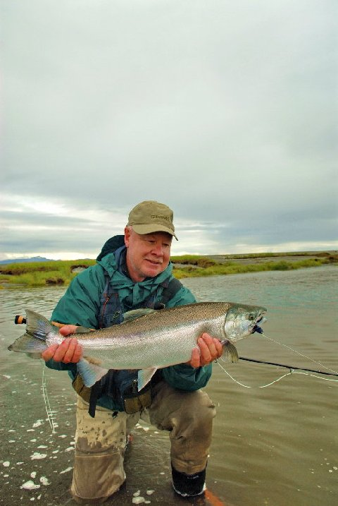 Jake Jordan, Silver Salmon, Icy Bay Lodge, Alaska Fly Fishing