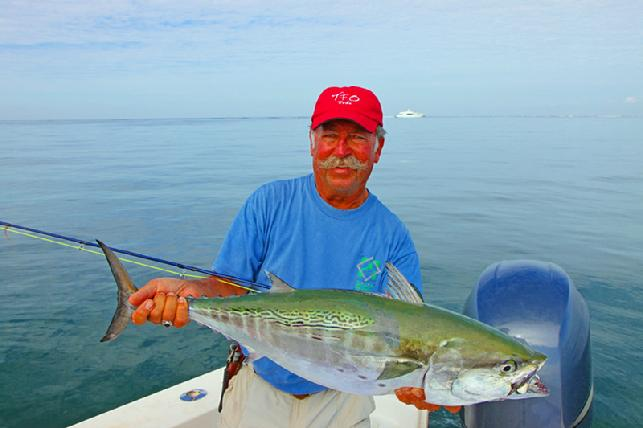 Chuck Furimsky Albie on fly October 16 2013 Vessel Fly Reel Captain Jake Jordan photo