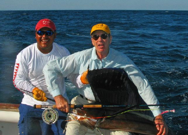 Casa Vieja Lodge, Sailfish School, Guatemala, Sailfish on Fly, Bob Campbell Jan 2011