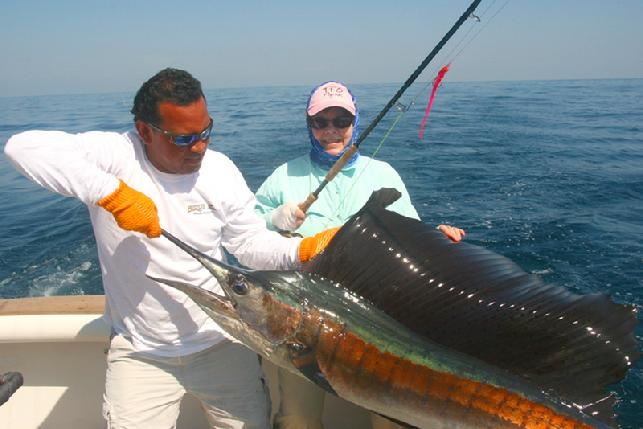 Casa Vieja Lodge, Guatemala, Sailfish on Fly, Charlotte Campbell, The Sailfish School