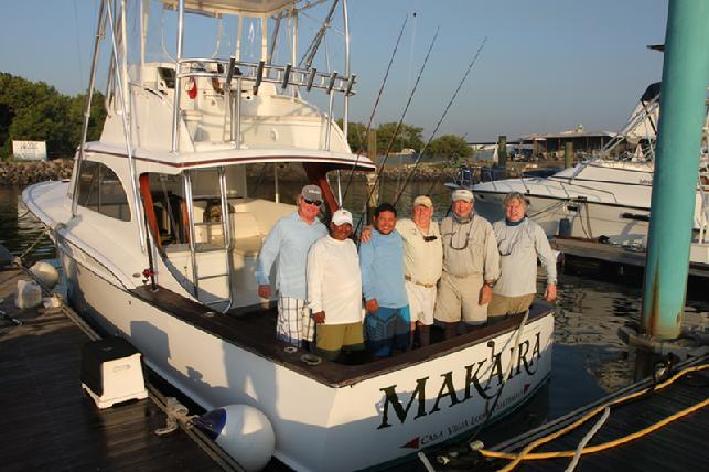 Jake Jordan's Sailfish School, Casa Vieja Lodge, Guatemala, vessel Makaira, Captain Jason Brice, MAtes Jeffery and Wilson, anglers Dave Miller and Danny Cline