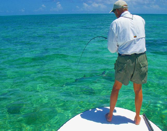 Jon Ziarnik ready for release of 110 pound Tarpon on fly