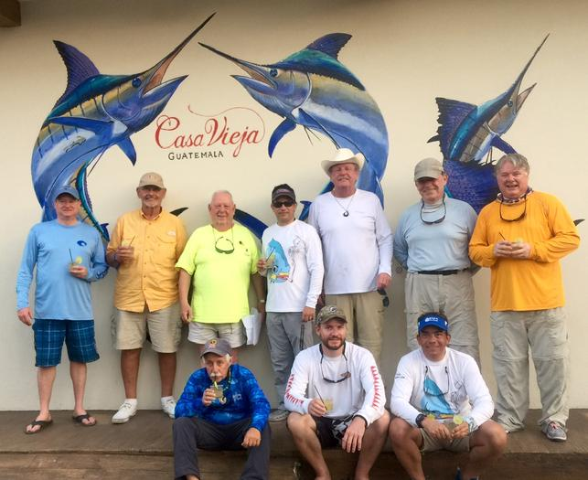 "Happy anglers from the 2016 ""Jake Jordan Invitational Sailfish Fly Challenge, at Casa Vieja Lodge Guatemala"