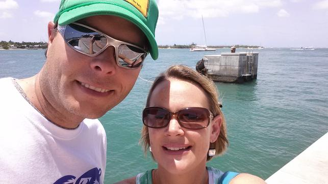 Blane and Christie Chocklett, enjoying Tarpon Paradise vacation