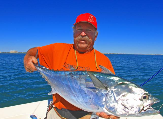 Chuck Furimsky Albie on Fly, Cape lookout region of North Carolina, Vessel Fly Reel, Captain Jake Jordan