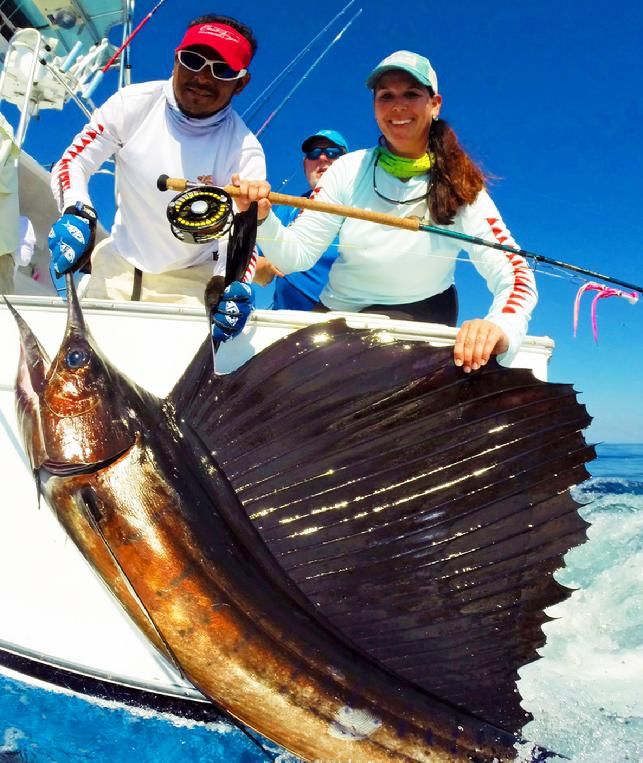 Diane First Sailfish on Fly, Intensity 2016