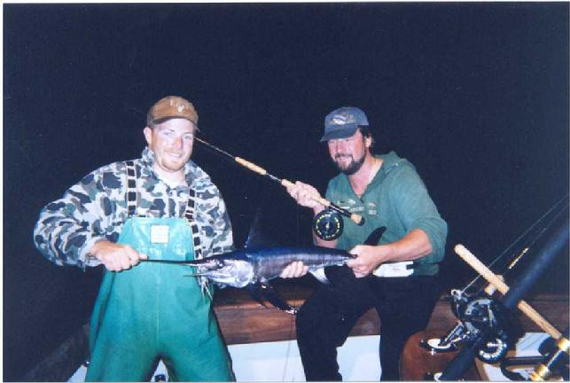 Billy Hayes, October 28 2002, First Swordfish on fly in the western Atlantic Ocean Baltimore Canyon off of NJ